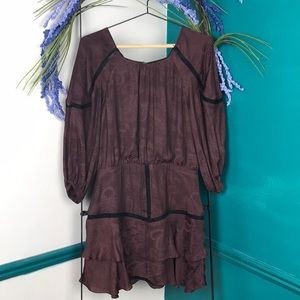 Tularosa Avery mini dress in dark eggplant NWOT